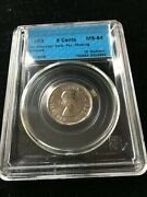 1953 Nsf/fl Missing Chrome Cccs Graded Ms-64 Canadian Five Cent