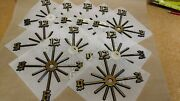 Clock Parts 10 Self Stick Old English 6-3/4 Partial Starburst Numbers Usa Made