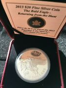 2013 20 Bald Eagle Ser. Returning From The Hunt Proof 1 Oz Silver Coin