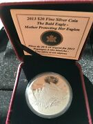2013 20 Bald Eagle Ser. Protecting Her Eaglets Proof 1 Oz Silver Coin