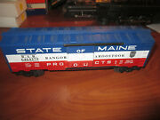 Lionel Modern 19273 6464-275 State Of Maine Box Car New In Orig. Box Sharp 1996