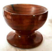 Redwood Pedestal Bowl 4x5.25 Handcrafted In Humboldt County Ca By Crawfords