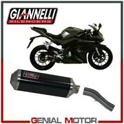 Full Exhaust System Giannelli Carbon + Kat Link Pipe Yamaha Yzfr 125 2014 14