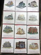 Vtg Lot Of 12 Liberty Falls Cluny House, Americana Collection, Sports, And More
