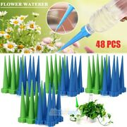 48x Automatic Garden Cone Watering Spike Plant Flower Waterers Bottle Irrigation