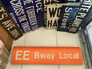 Ny Nyc Subway Roll Sign Nycta Ee Line Broadway Local Theater District Plays Arts