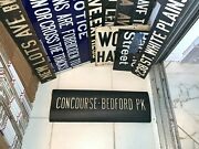 Ny Nyc Subway Roll Sign Concourse Bedford Park Lehman College Botanical Garden