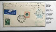 1936 England Air Race Airmail Cover To George South Africa Pilot Victor Smith