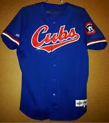 Chicago Cubs Billy Williams Game Worn Blue 26 Baseball Size Xl Mlb Jersey