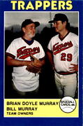 1988 Salt Lake City Trappers 2 Brian Murray Bill Murray Team Owners Card
