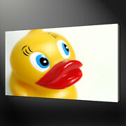 Yellow Rubber Bath Duck Kids Room Box Canvas Print Wall Art Picture
