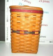 Longaberger Fathers Day Mini Waste Basket Protector Lid Card Excellent