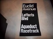 Ny Nyc Subway Roll Sign Euclid Pitkin Ave Brooklyn Lefferts Aqueduct Race Track