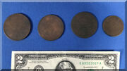 Vintage Obsolete China Honan 20 100 200 Cash Copper Coins Lot Circulated Worn