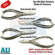 Manicure Pedicue Long Thickfake Nails Heavy Duty Cutters Plain And Patterns X4