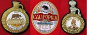 Three 3 Different 1960s Hand Made Gold And Silver Bullion Whiskey And Beer Patches