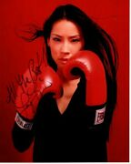 Lucy Liu Signed Autographed Everlast Boxing Photo