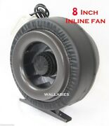 8 Inline 720cfm 110v Hydroponics Duct Tube Exhaust Fan Blower + Leather Sleeve