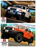 New Oem Toyota Fj Cruiser Full Black Out Kit Grille Mirrors 4 Ends Hitch Notch
