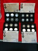 2004 And 2005 P And D Jefferson Nickels - Unc./gold And Plat. Plated - Neat Sets