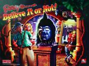 Ripley's Believe It Of Not Stern Pinball Game Translite Sign New 19x26