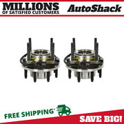 Front Wheel Hub Bearing Assembly Pair 2 For 2011-2016 Ford F-250 Super Duty 6.7l