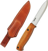 Bps Knives Bs1fts Bushcraft Full Tang Knife Leather Sheath Carbon Steel Scandi