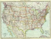 Usa. United States Of America 1907 Old Antique Vintage Map Plan Chart