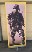 Us Army Recruiting Life Size Soldier Retractable Banner Display