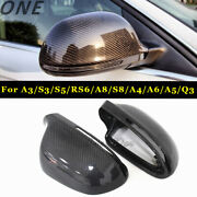 Carbon Fiber Mirror Cover Shell Casing For Audi A3 A4 B8 A5 A6 A8 S8 S5 Rs6 Q3