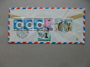 Burma, R-cover To Germany 1984, Rich Franking Ao Strip Of 3 Women's Year