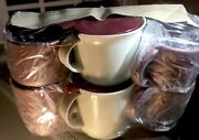 Tupperware New Vintage Set Of 4 Coffee Cups W 2 Matching Condiment Dishes W Lids