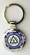 Alcoholics Anonymous Sobriety Key Chain - 6 Year Blue