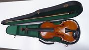 Antique Alexander Hume 1923 London Violin In Case And Bow - Estate Lot Unrestored