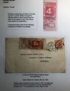 1922 London England Front Rare Railway Transit Stamp Cover To Liverpool