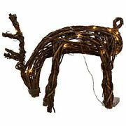 Reindeer Grapevine Battery Operated Led Holiday Decoration In/outdoor Brown Vine