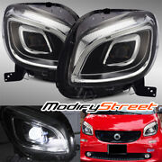 For 2016-2018 Smart Car Fortwo Hi-power Full Led Projector Headlights Assembly