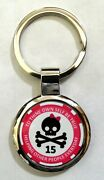 Alcoholics Anonymous Skull And Bow 15 Year Sobriety Key Chain
