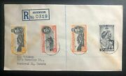 1948 Ascension Cover To Canada Royal Silver Wedding King George Vi Stamp
