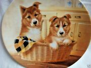 Paws For A Picnic Collie Pups Collector Plate By Lynn Kaatz - 1993
