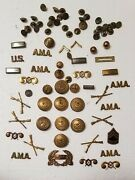 Huge Lot Of Vintage Military Pins, Buttons, Badges And More - All For One Price