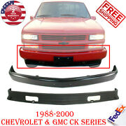 Front Bumper Painted Black + Lower Valance For 1988-2000 Chevy And Gmc C/k Series