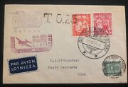1939 Gdynia Poland First Flight Airmail Cover Ffc To Roma Italy