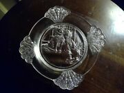 Childand039s Toy Glass Abc Plate Frolic Plate Shell Border Gillinder Boy And His Dog
