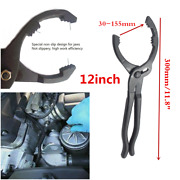 Universal 12 Car Truck Oil Filter Removal Wrench Plier Tool 30-155mm Adjustable