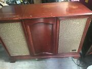 Mid Century Vintage Zenith Record Player Console Am/fm Tuner Stereo