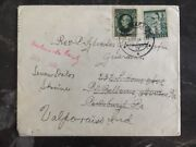 1940 Slovakia Cover Redirected To Valparaiso In., Usa Stamps 30,40