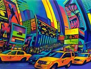 Ken Beberman X To The 2nd Power | Embellished Canvas| Times Square New York