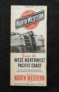 1940 Chicago And North Western Railway West, Northwest, Pacific Coast Time Table