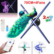 65cm Led Wifi Hd 3d Hologram Projector Holographic Advertising Fan Displayer 16g